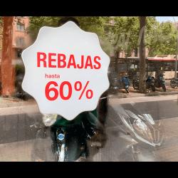 Vinilos Escaparate Rebajas 20, 30, 40, 50, 60